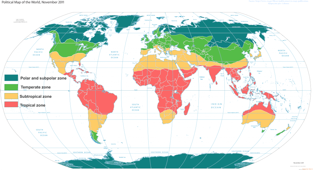 United States located in the ideal temperate zone for farm production compared to rest of world